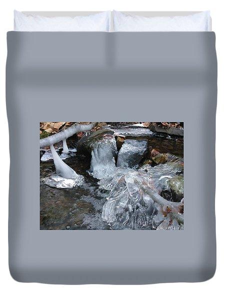Winter Water Flow 4 Duvet Cover