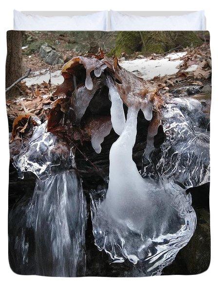 Winter Water Flow 5 Duvet Cover