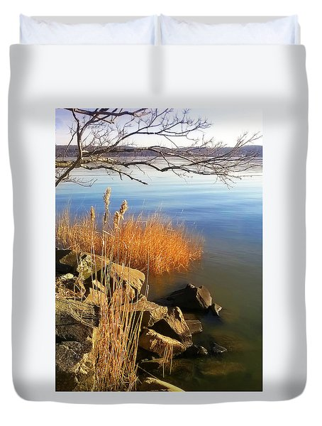 Winter Water Duvet Cover