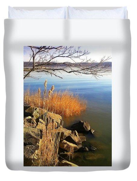 Winter Water Duvet Cover