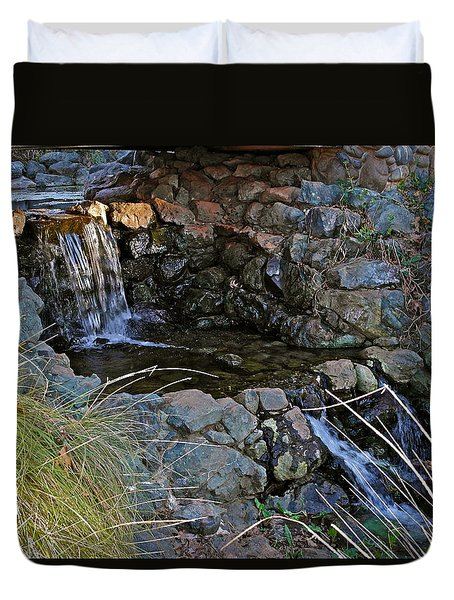 Winter Waterfall Duvet Cover by Michele Myers