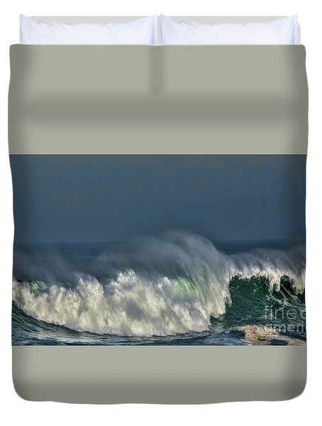 Winter Waves And Veil Duvet Cover