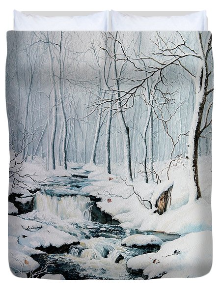 Winter Whispers Duvet Cover by Hanne Lore Koehler