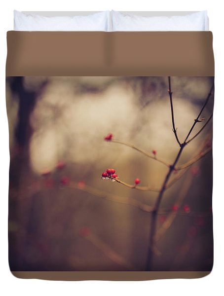 Duvet Cover featuring the photograph Winter Whispers by Shane Holsclaw