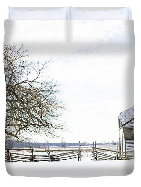 Winter White Out Duvet Cover