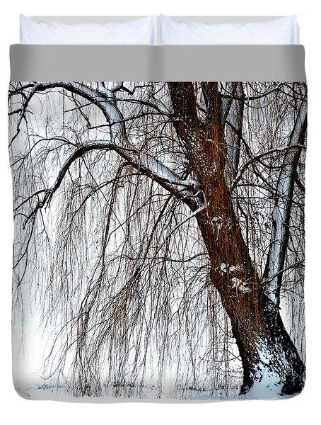 Winter Willow Duvet Cover