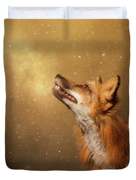 Duvet Cover featuring the digital art Winter Wonder by Nicole Wilde
