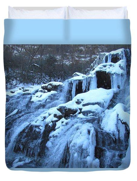 Frigid Falls Duvet Cover