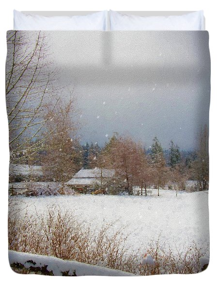 Winter Wonderland - Country Art Duvet Cover