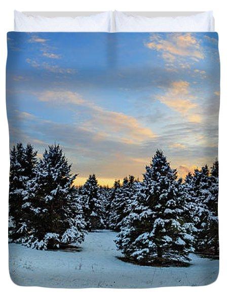 Duvet Cover featuring the photograph Winter Wonderland  by Emmanuel Panagiotakis