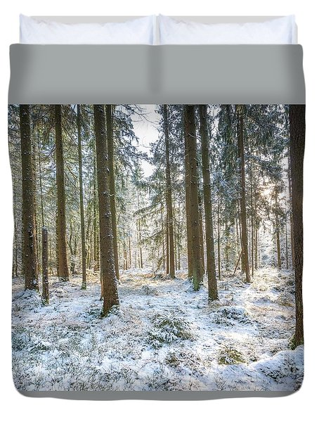Duvet Cover featuring the photograph Winter Wonderland by Hannes Cmarits