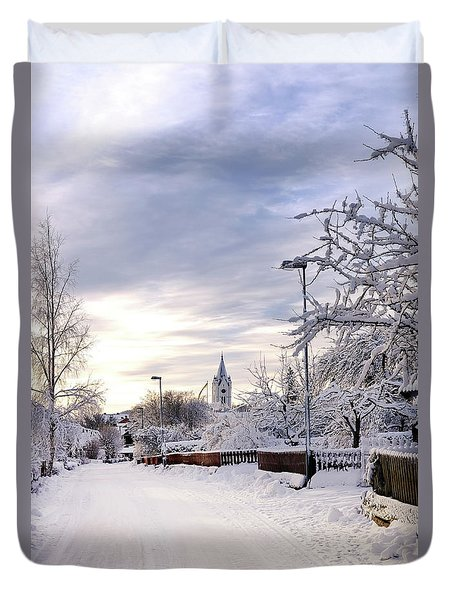 Winter Wonderland Redux Duvet Cover by Marius Sipa
