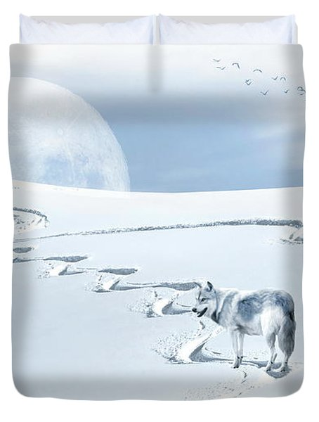 Winter Wonderland - Wolf Duvet Cover