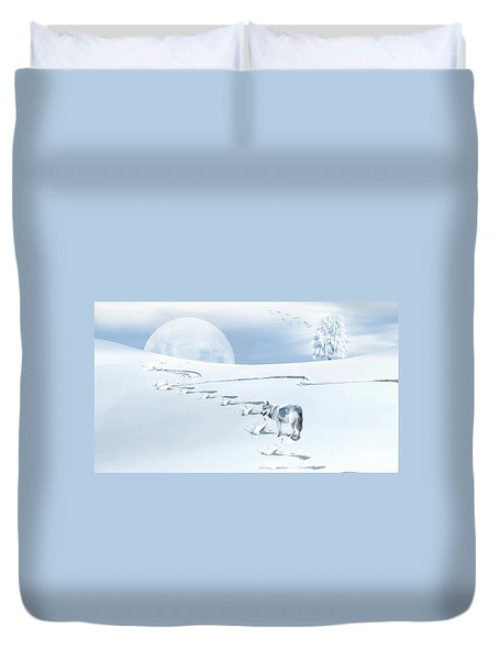 Winter Wonderland - Wolf Duvet Cover