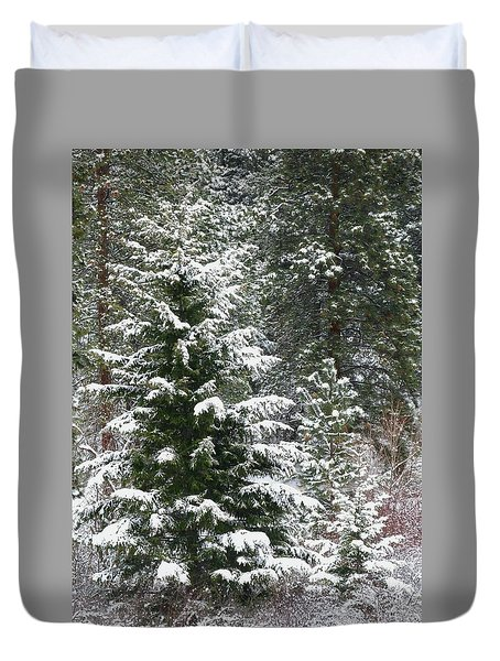 Duvet Cover featuring the photograph Winter Woodland by Will Borden