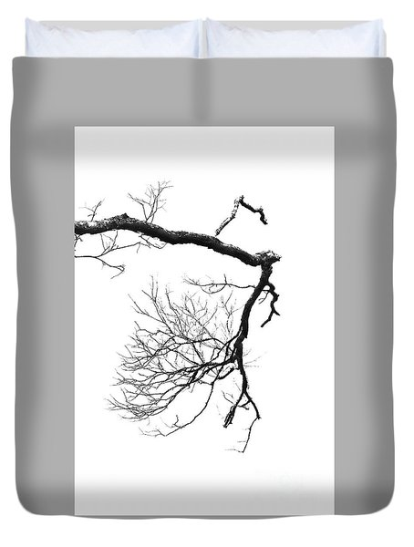 Duvet Cover featuring the photograph Wintered Over by Skip Willits