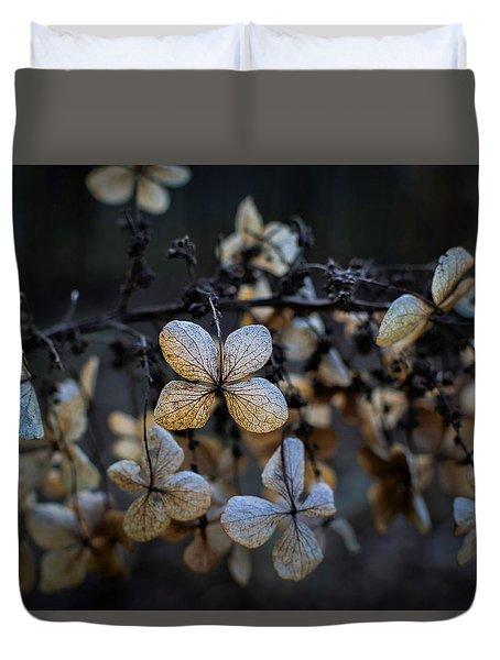 Winterized Hydrangea Duvet Cover
