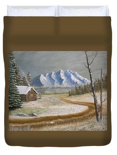 Winter's Arrival Duvet Cover
