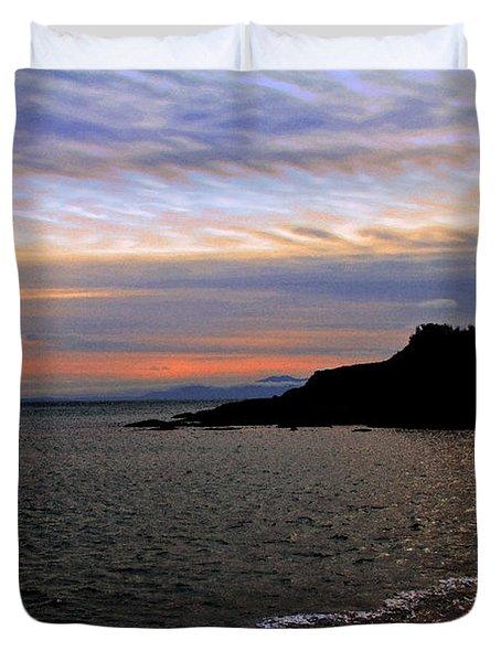 Winter's Beachcombing Duvet Cover