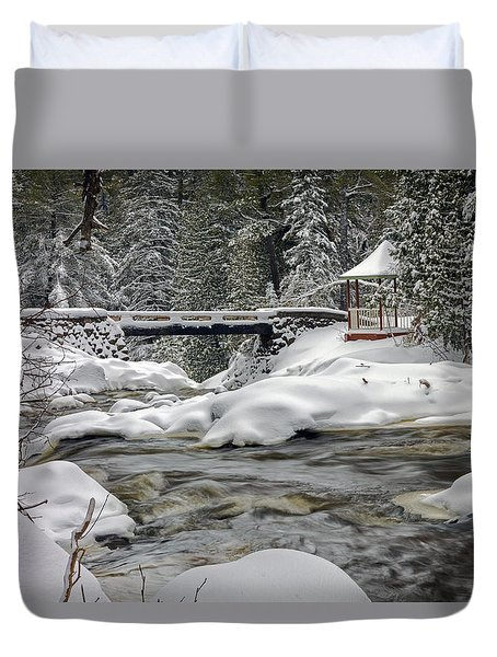 Duvet Cover featuring the photograph Winter's Blanket by Mary Amerman