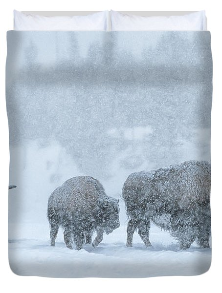 Winter's Burden Duvet Cover