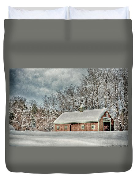 Winters Coming Duvet Cover by Tricia Marchlik
