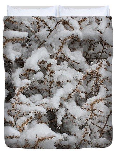 Winter's Contrast Duvet Cover by Carol Groenen