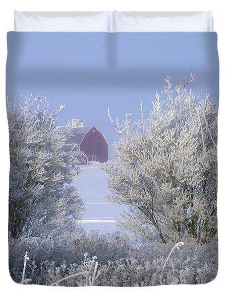 Winter's Embrace Duvet Cover