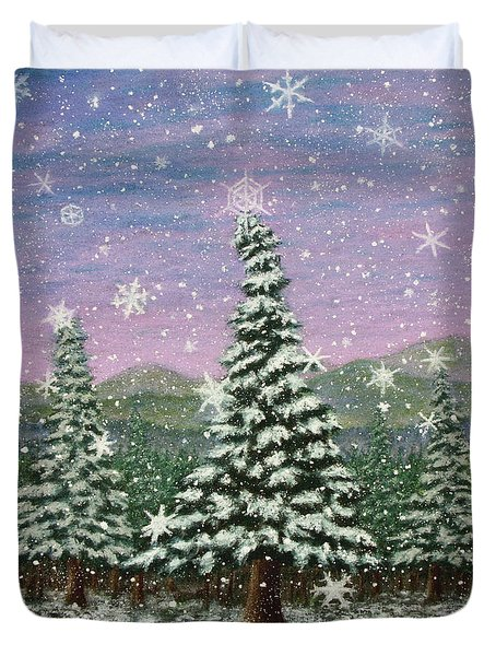 Winter's Eve 01 Duvet Cover