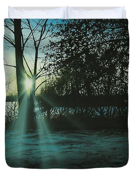 Winter's Evening Scout Duvet Cover