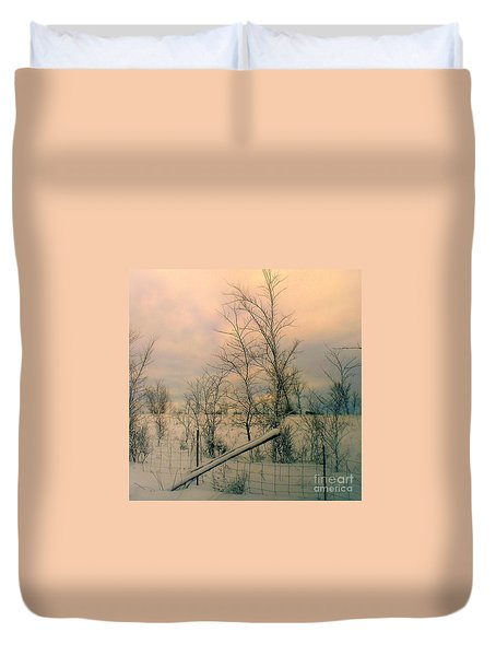 Duvet Cover featuring the photograph Winter's Face by Elfriede Fulda