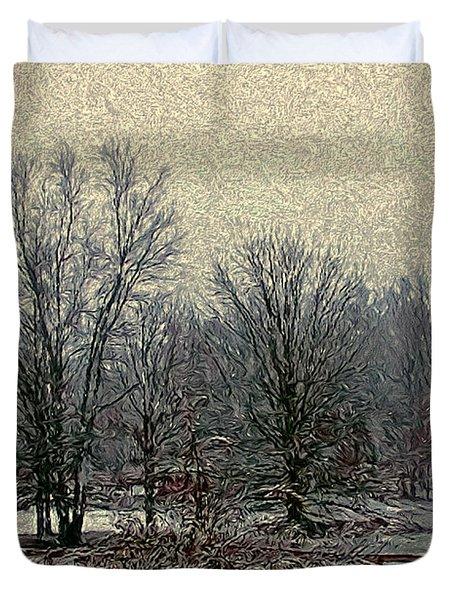 Winter's First Snowfall Duvet Cover