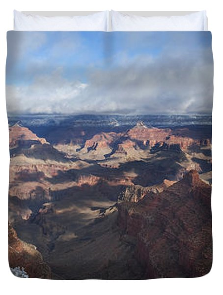 Winter's Grasp At The Grand Canyon Duvet Cover by Sandra Bronstein