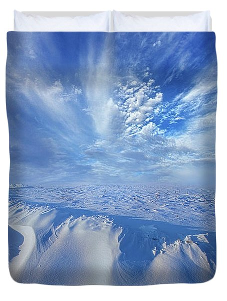 Duvet Cover featuring the photograph Winter's Hue by Phil Koch