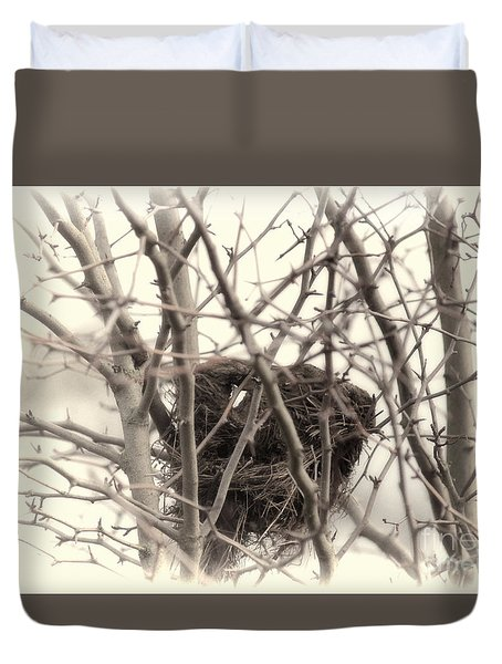 Winter's Nest Duvet Cover by Erica Hanel