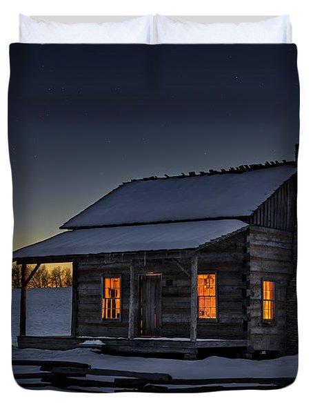 Winters Refuge Duvet Cover