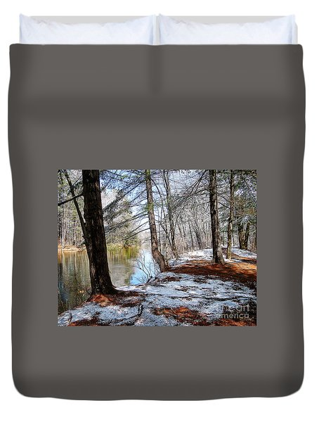Winter's Remains Duvet Cover