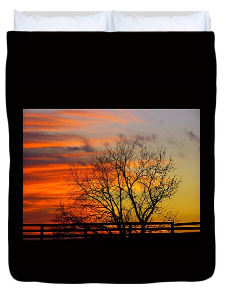 Duvet Cover featuring the photograph Winter's Scene by Donald C Morgan