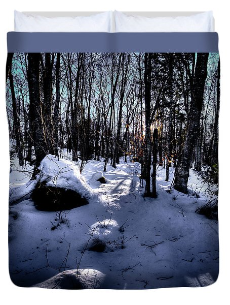 Duvet Cover featuring the photograph Winters Shadows by David Patterson