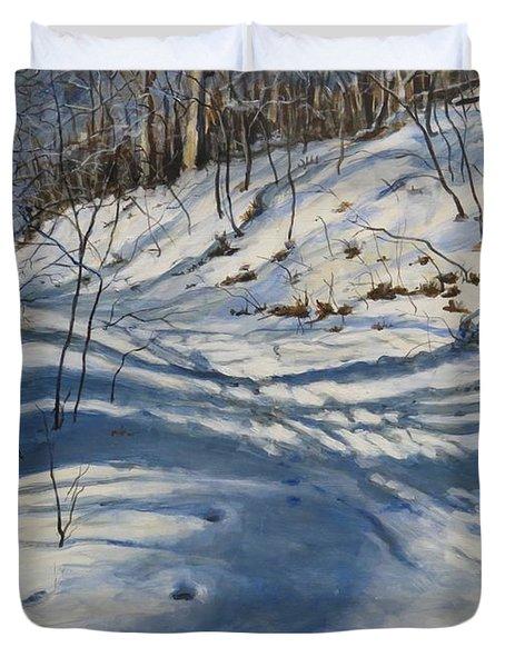 Winter's Shadows Duvet Cover