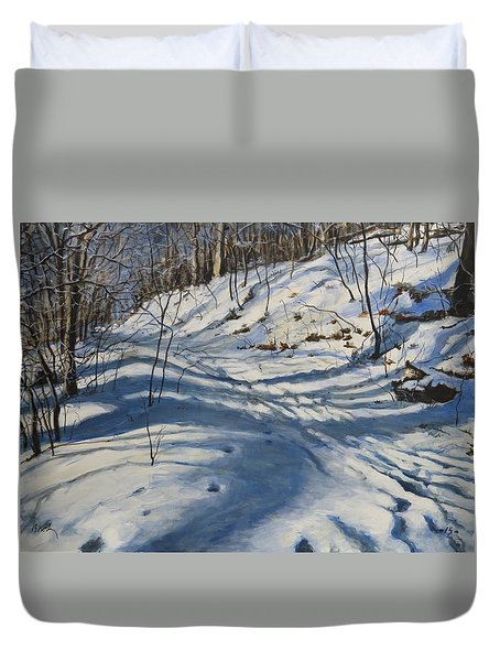 Winter's Shadows Duvet Cover
