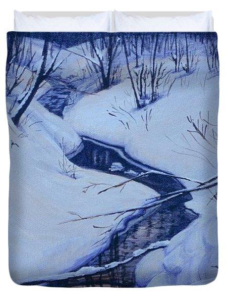 Winter's Stream Duvet Cover