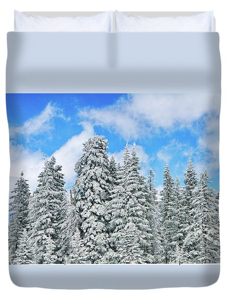 Winterscape Duvet Cover by Jeff Kolker