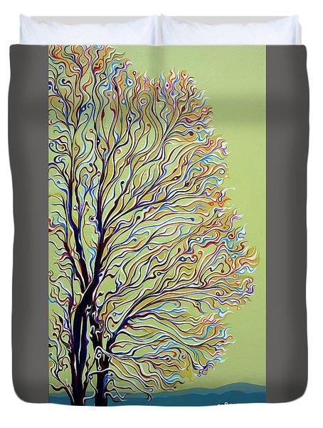 Wintertainment Tree Duvet Cover
