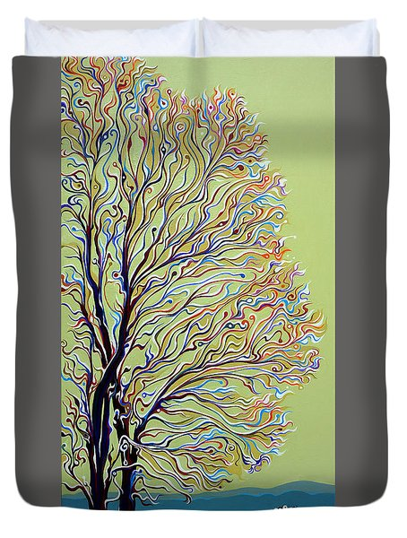 Wintertainment Tree Duvet Cover