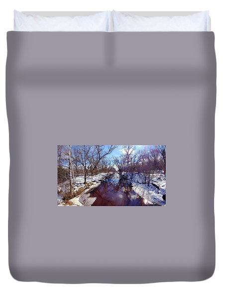 Wintertime In Necedah  Duvet Cover by Ricky L Jones