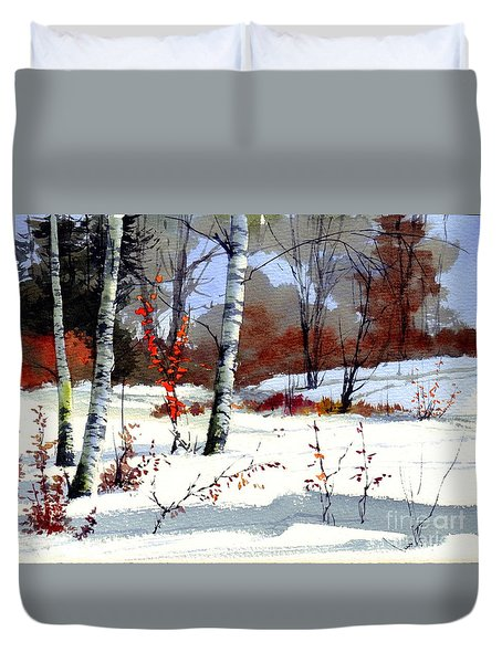 Wintertime Painting Duvet Cover