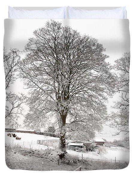 Wintery Scene Duvet Cover