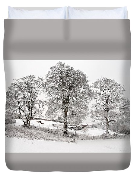 Wintery Scene Duvet Cover