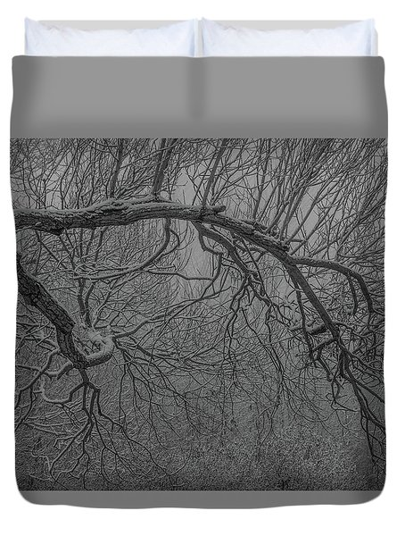 Wintery Tree Duvet Cover